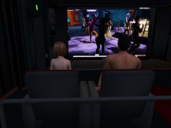 Porn Cinema in Second life