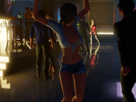 Dancing at Fresco in 3DXChat