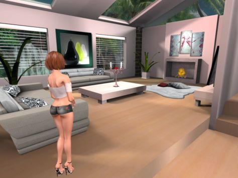 My Clients Home in Second Life
