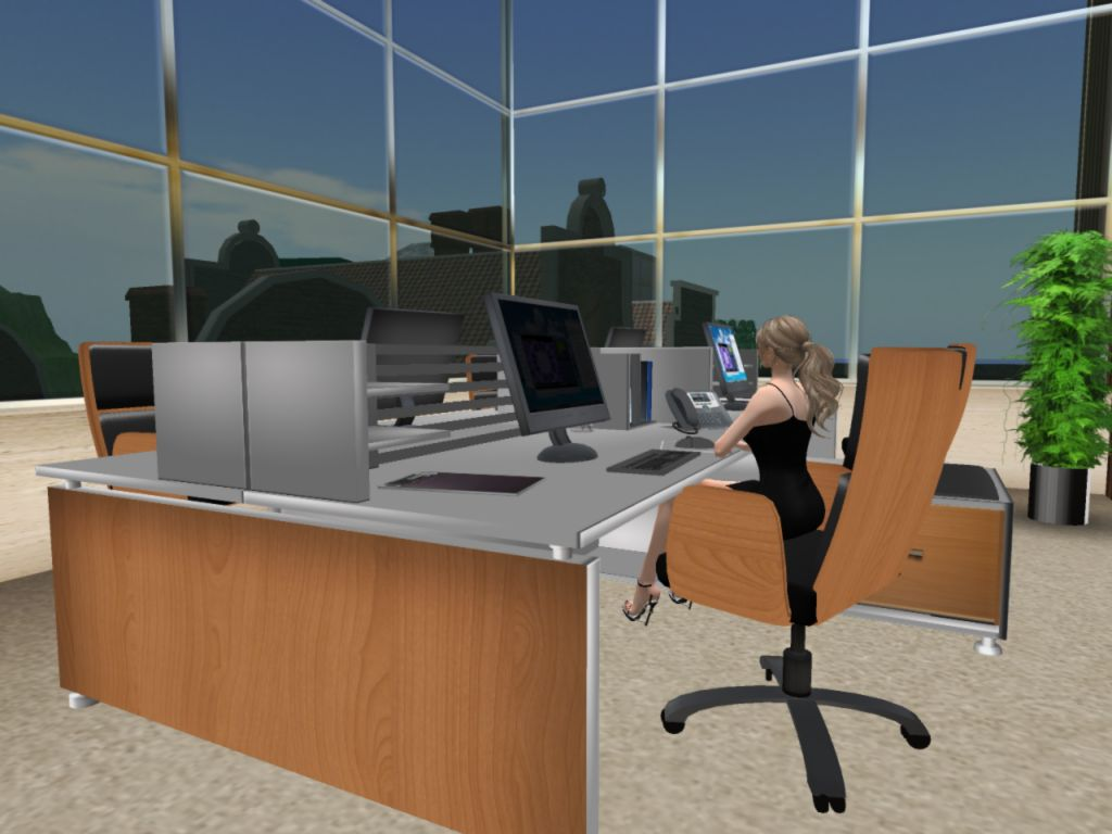 SLA Media Office in Second Life