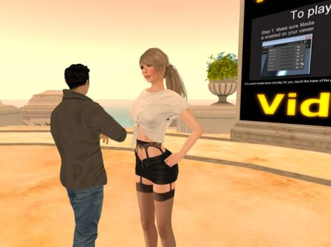 Noob on Social Island in Second Life
