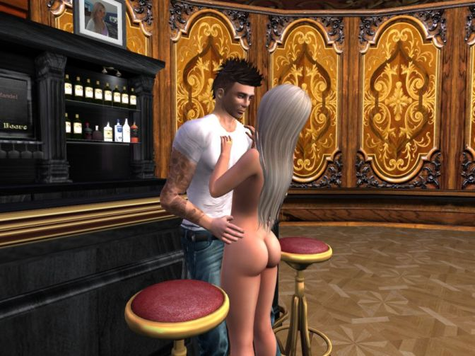 First day at Caroline's Mansion in Second Life